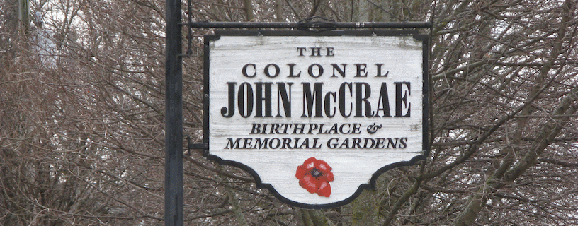 McCrae House is the birthplace of John McCrae the soldier that authored the poem In Flanders Fields.