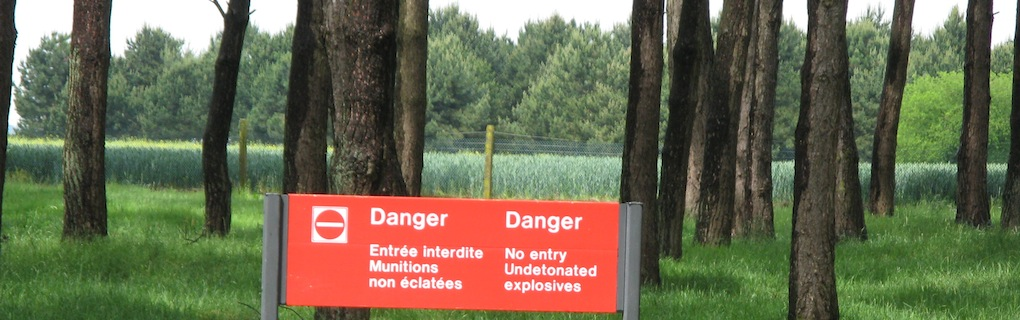 Unexploded munitions are still a problem at the site of the Vimy Memorial.